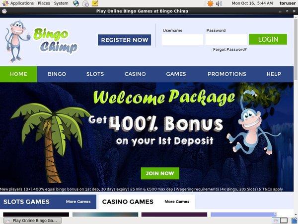 Bingochimp Paypal Account
