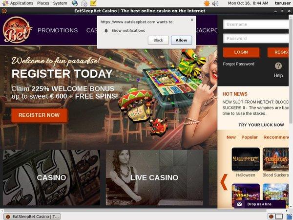 Eat Sleep Bet Bonus Casino