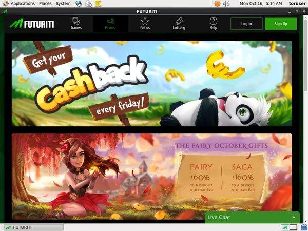 Futuriti Casino 100 Bonus
