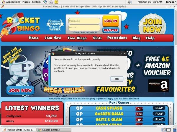 Rocket Bingo Sign Up Free