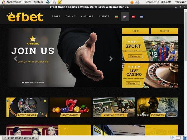 Efbet Deposit Page