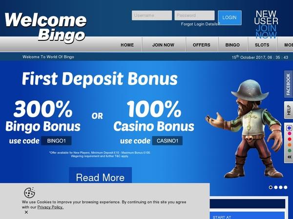 Welcome Bingo Best Welcome Bonus