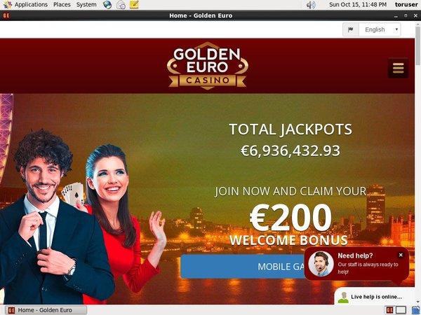 Golden Euro Casino Bonus No Deposit
