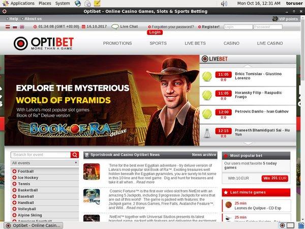 Optibet.lv Online Casino Uk