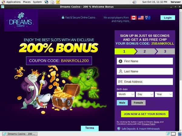 Dreams Casino With Skrill