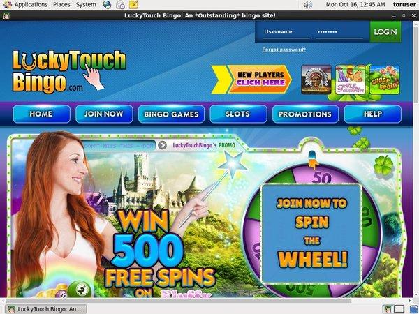 Get Lucky Touch Bingo Account