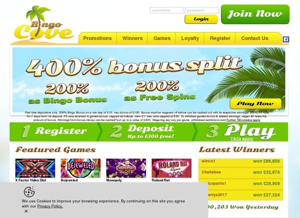 Bingocove Sign Up Offers