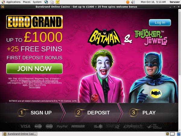 Euro Grand Casino Phone