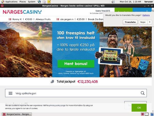 Norgescasino Register Bonus