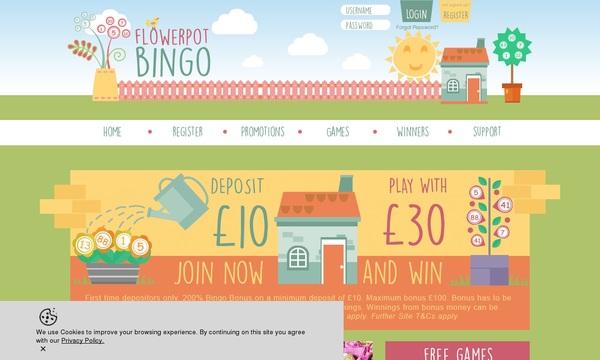 Flower Pot Bingo Create New Account
