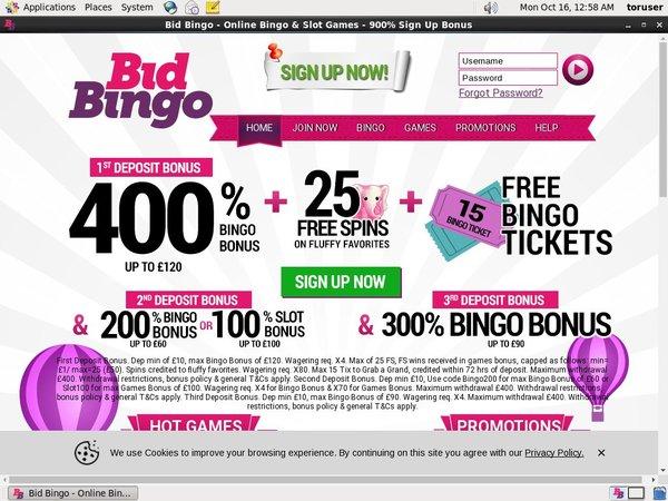 Bid Bingo Betting App