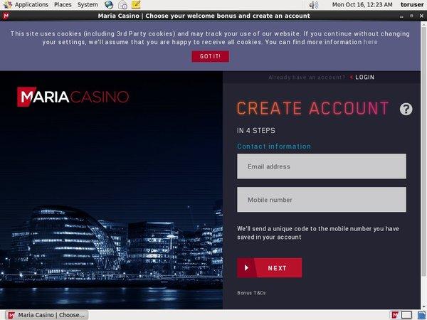 Mariacasino No Deposit Bonus Code